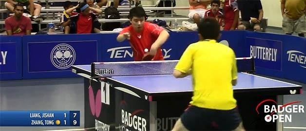 2016 Butterfly Badger Open - Open Singles Semi-Finals #2: Jishan Liang v/s Tong Zhang