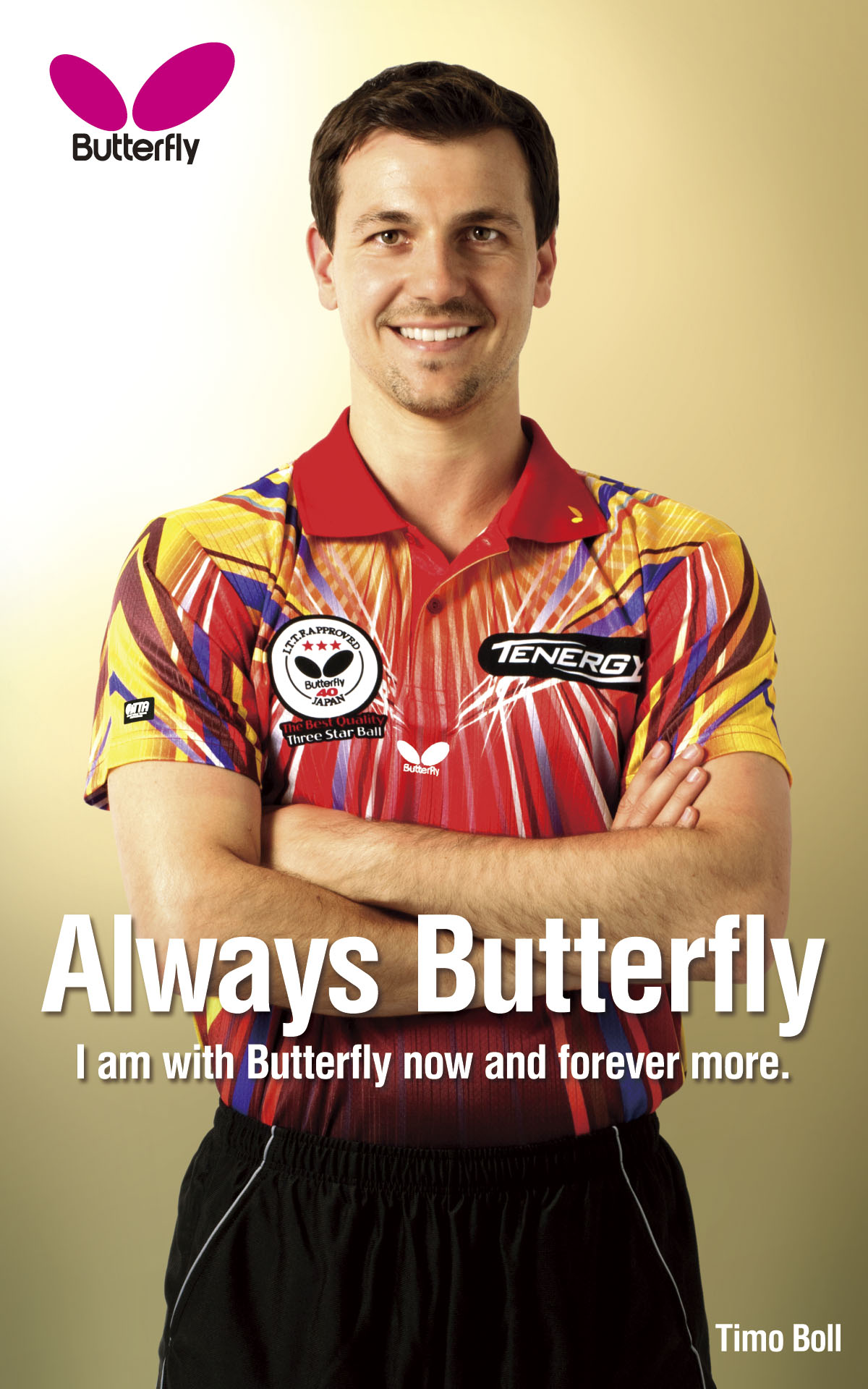 Butterfly Table Tennis Player Backgrounds