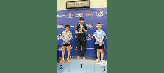 U13 Boys Singles – Alexander Bu Champion