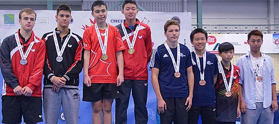 2015 Butterfly Canadian Junior Table Tennis Championships Results