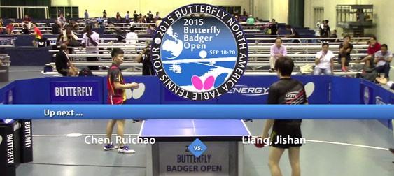 2015 Butterfly Badger Open Video - Open Singles Final