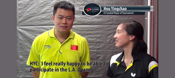 2015 Butterfly La Open Interview With Hou Yingchao