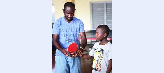 ITTF Development Program: Learning the basics in Jamaica Photo By: Courtesy of Peter Kavanaugh