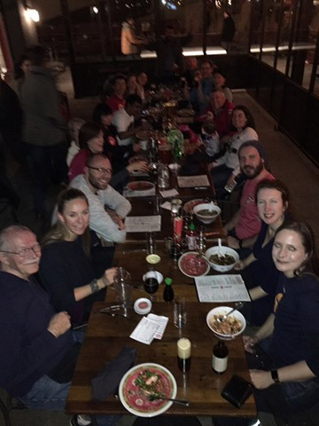 Denver TT Alliance Team with Friends & Family at Ace Restaurant