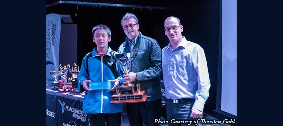 Edward Ly Receives Québec's Cadet Athlete of the Year Award - Photo by Thorsten Gohl