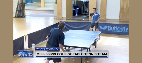 Top-ranked Mississippi College Table Tennis Team - Photo courtesy of WJTV 12