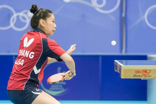 Lily Zhang, 2016 NA Olympic Table Tennis Qualifier, No. 4 ...