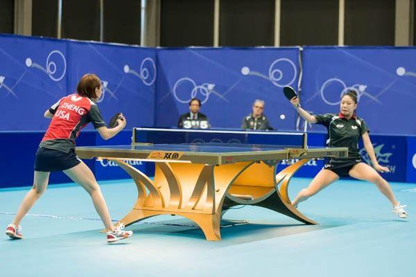 Jiaqi Zheng vs Lily Zhang, 2016 NA Olympic Table Tennis Qualifier ...