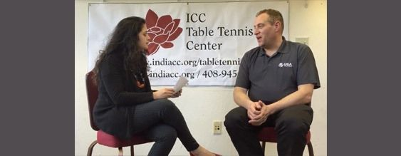 Gordon Kaye, USATT CEO, Interview at ICC Table Tennis Center