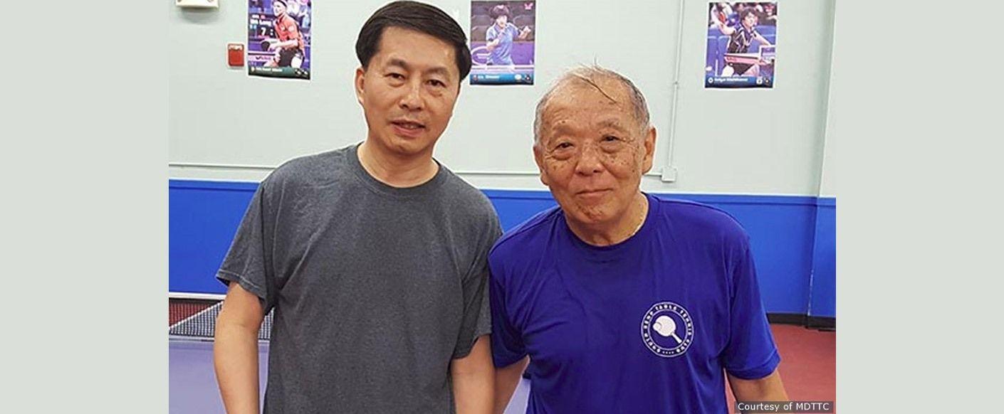 2016 Butterfly MDTTC June Open Over 50 Champion Lixin Lang and Finalist David Sakai