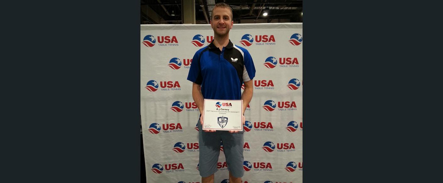 Congratulations Triangle Table Tennis Coach Aj Carney