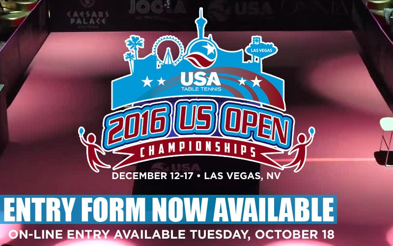 2016 US Open Championships: Invitation open to all nations