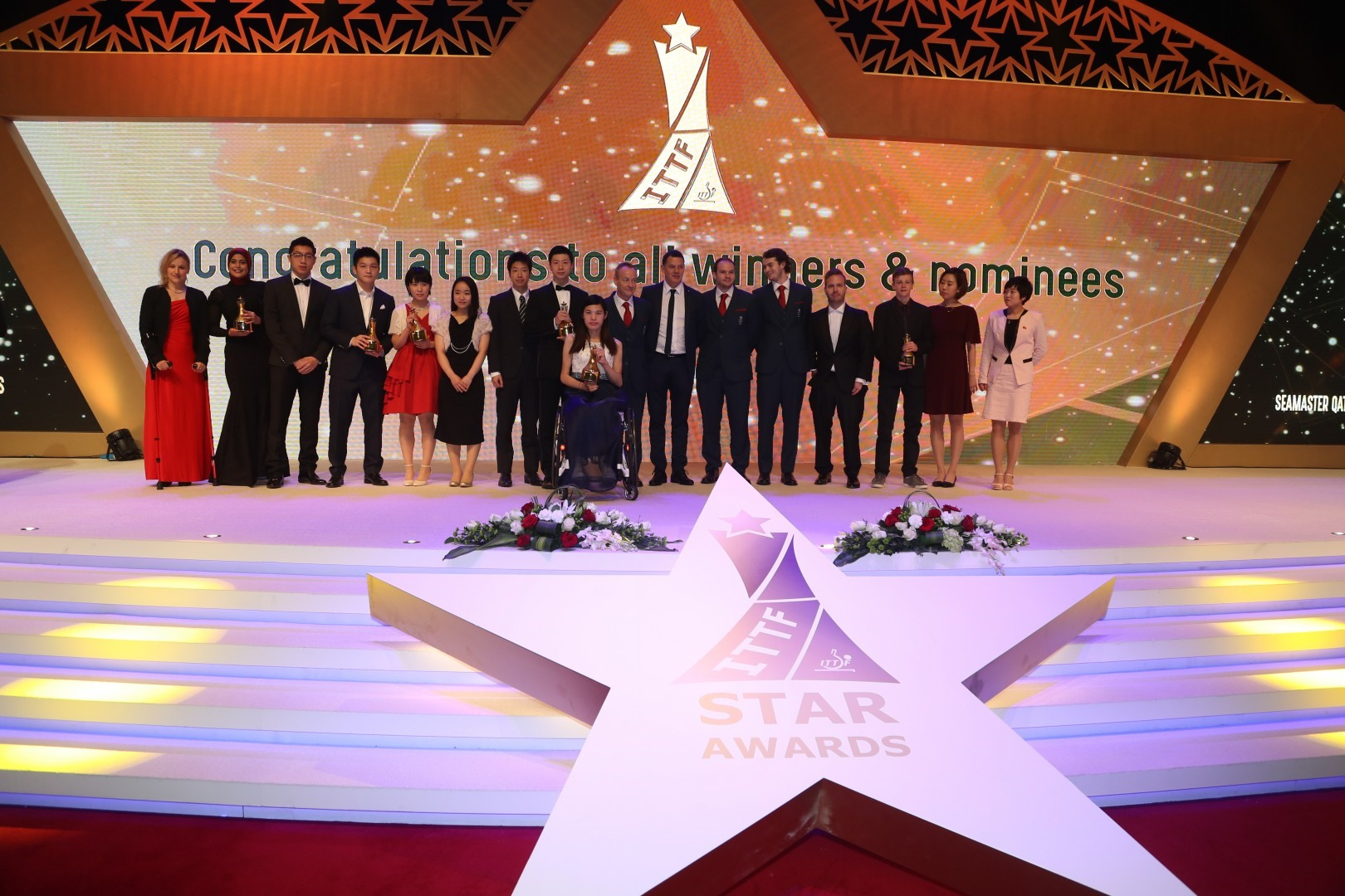 Day One Review Glamorous Night At The Ittf Star Awards