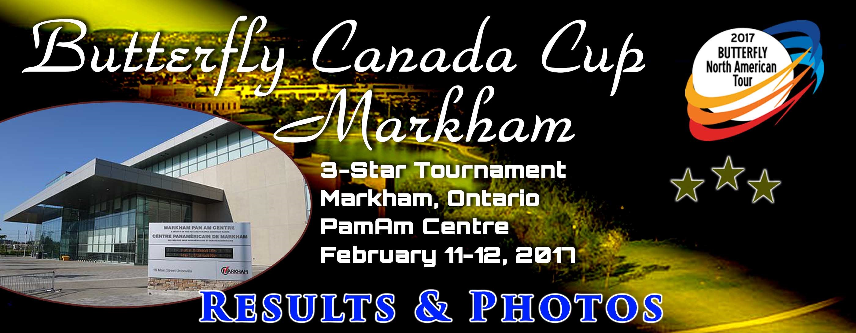 2017 Butterfly Canada Cup Markham: Photos and Results
