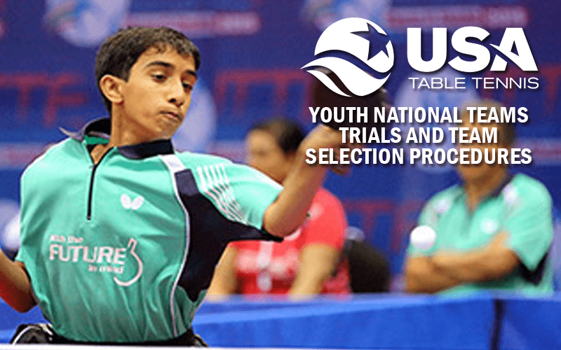 2017-2018 Youth National Team Trials and Selection Procedures