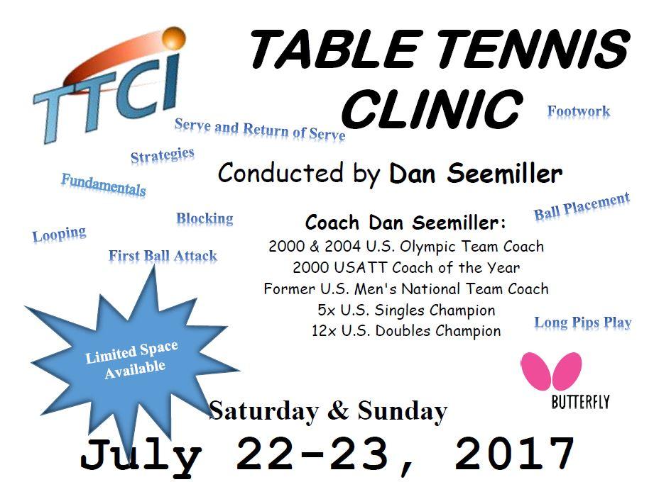 2017 Summer Table Tennis Clinic by Dan Seemiller