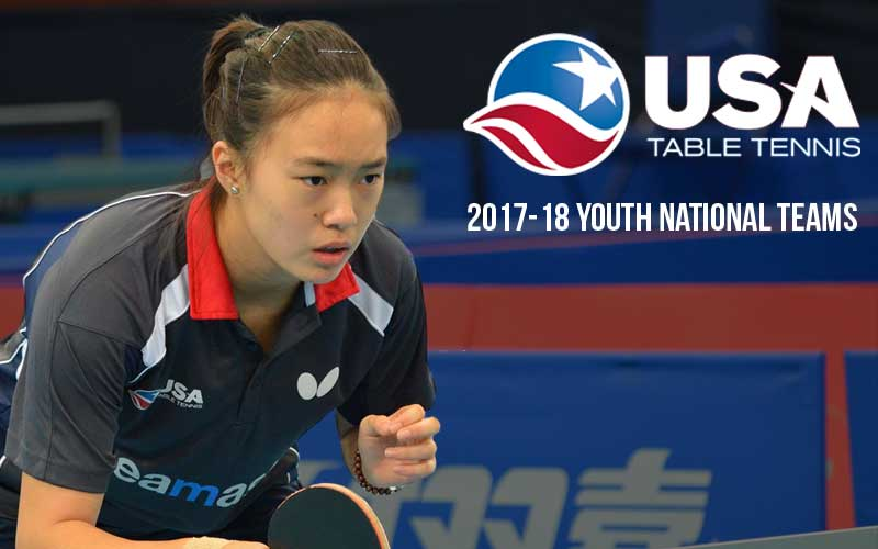 USATT Announces Youth National Teams for 2017-2018