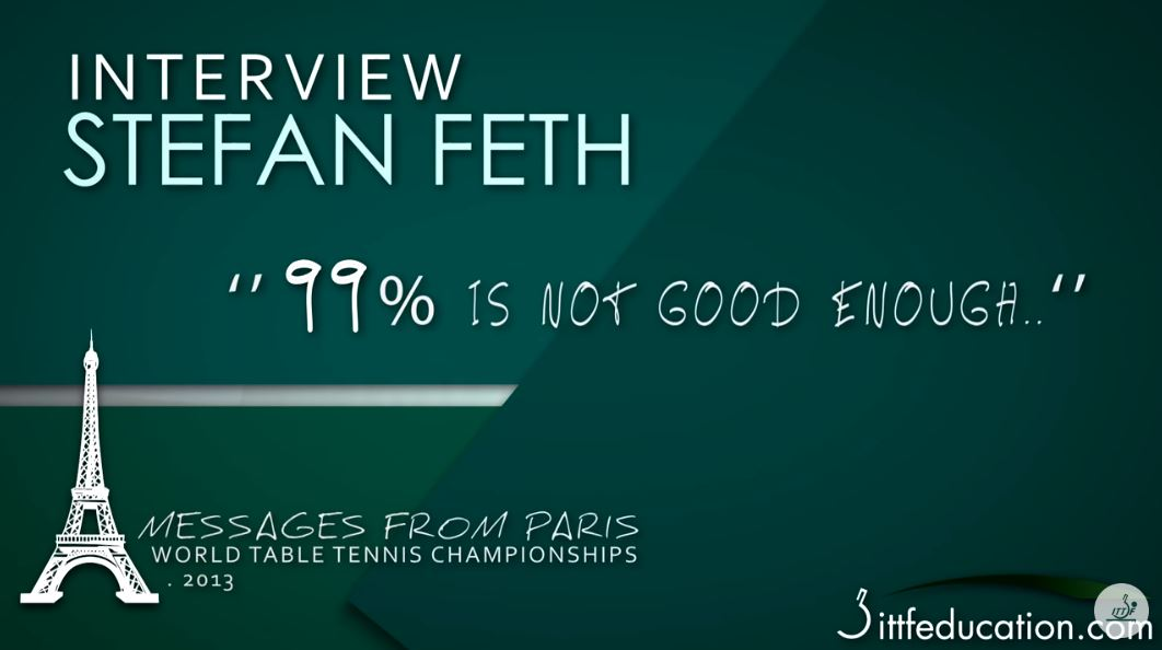 Stefan Feth 99% Is Not Good Enough - Messages From Paris