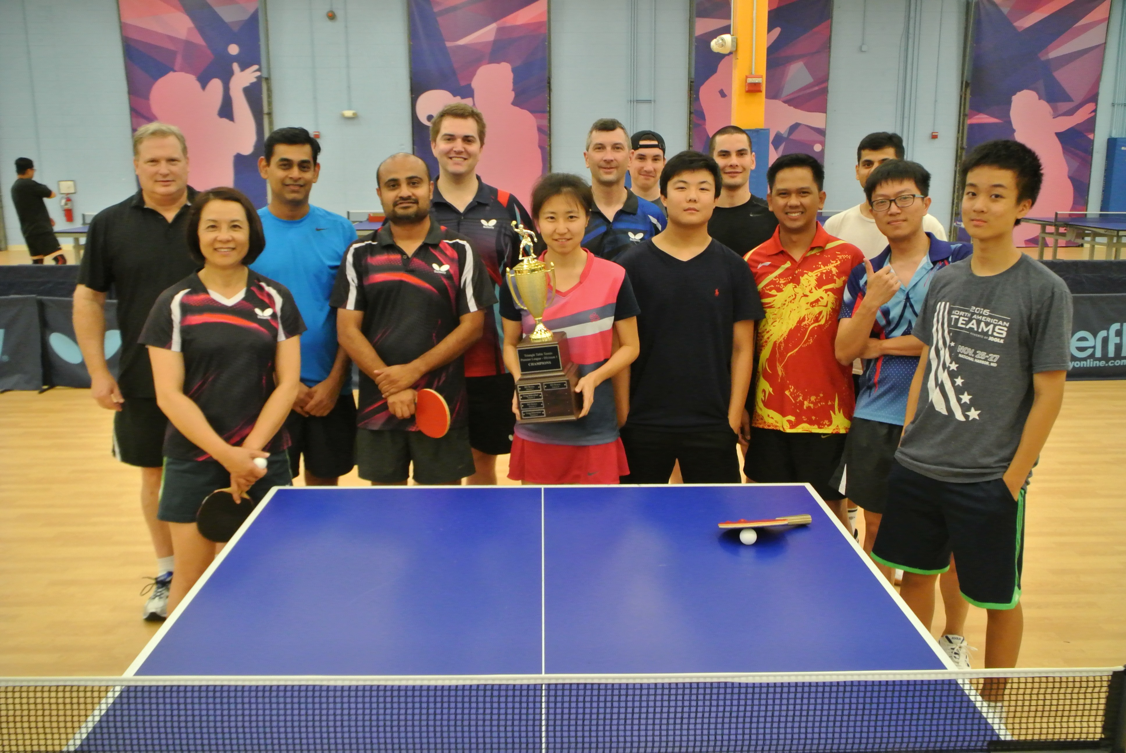 Triangle Table Tennis Division 1 Friday League Standings