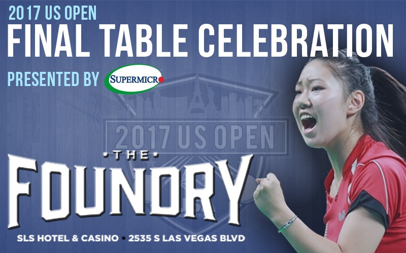 2017 US Open Final Table Celebration-SLS Casino Hotel