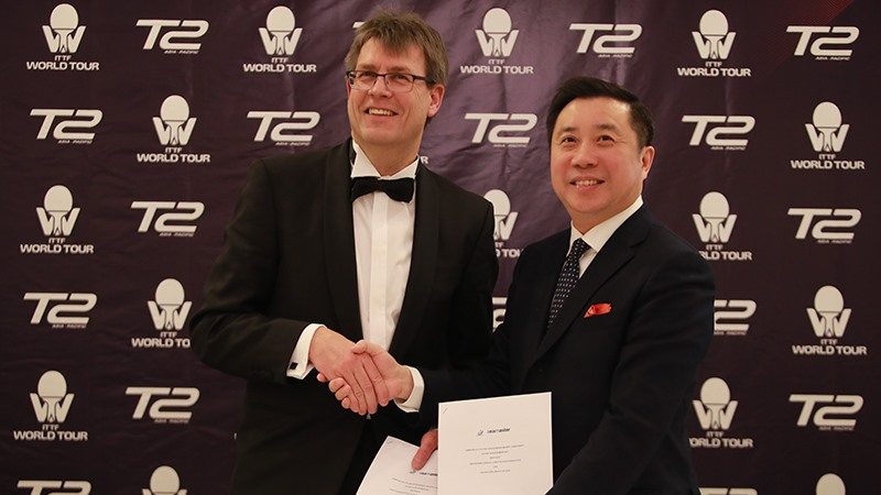 ITTF World Tour & T2 Sign Collaboration Agreement