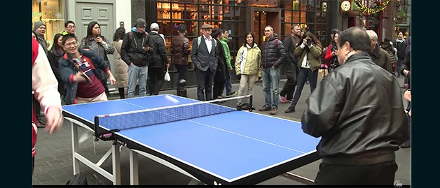 Table Tennis visits China Town before ITTF Team World Cup