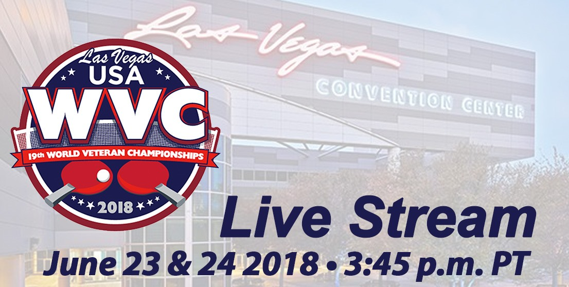 2018 World Veteran Championships - Live Streams Tables 1-10