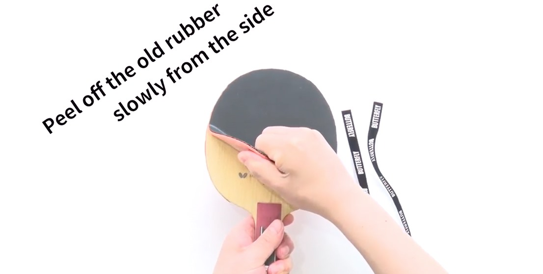 How to change the Butterfly Rubber Sheet on Butterfly Blades