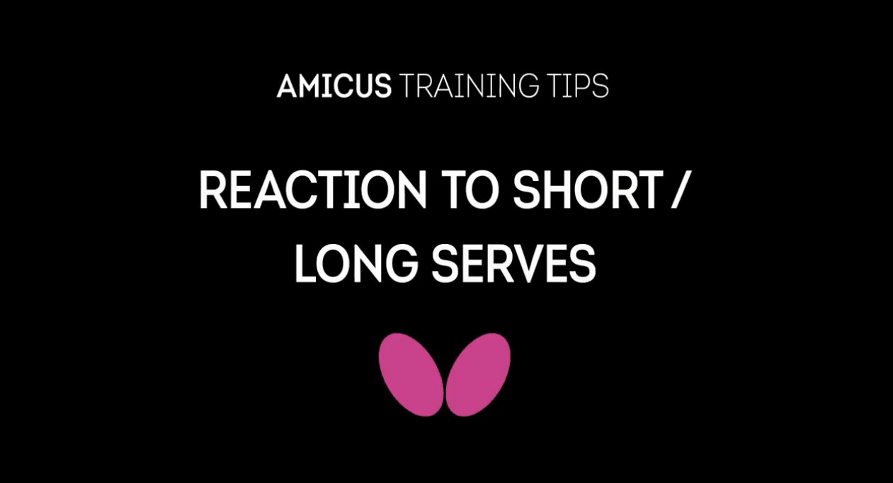 AMICUS Training Tips Series: How to Receive to Long and Short Serves Richard Prause