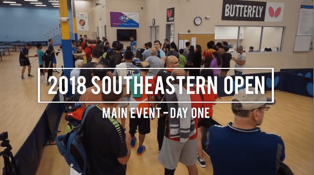 2018 Butterfly Southeastern Open – Day 1 Video