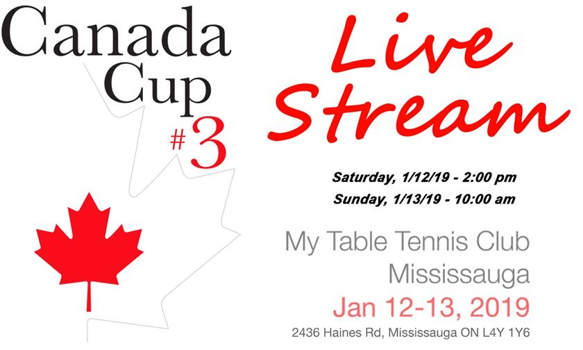 2018 Butterfly Canada Cup #3 (Finals) - Photos, Live Stream & Results