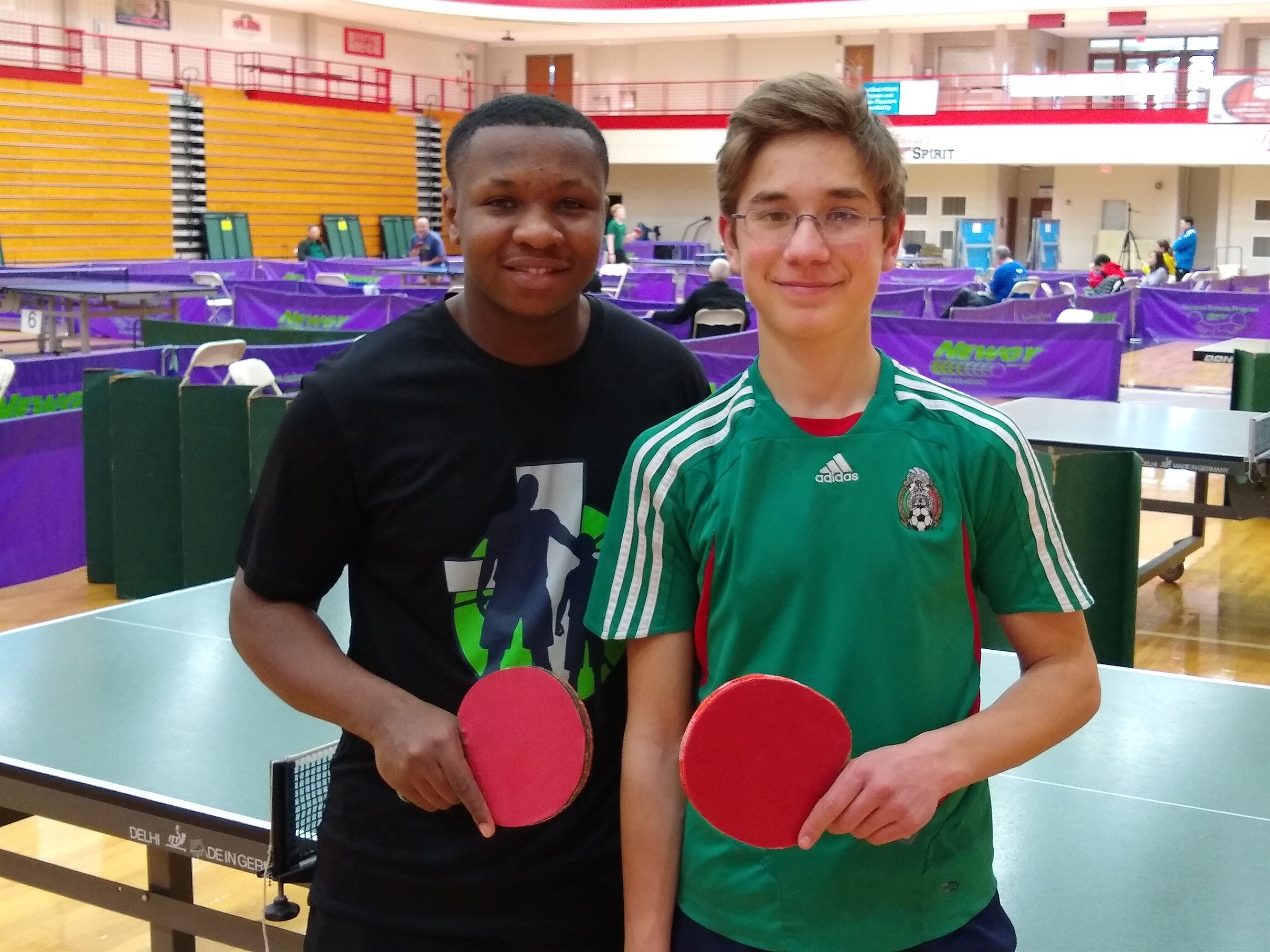 Two Local Juniors Battle it Out at Table Tennis Tournament