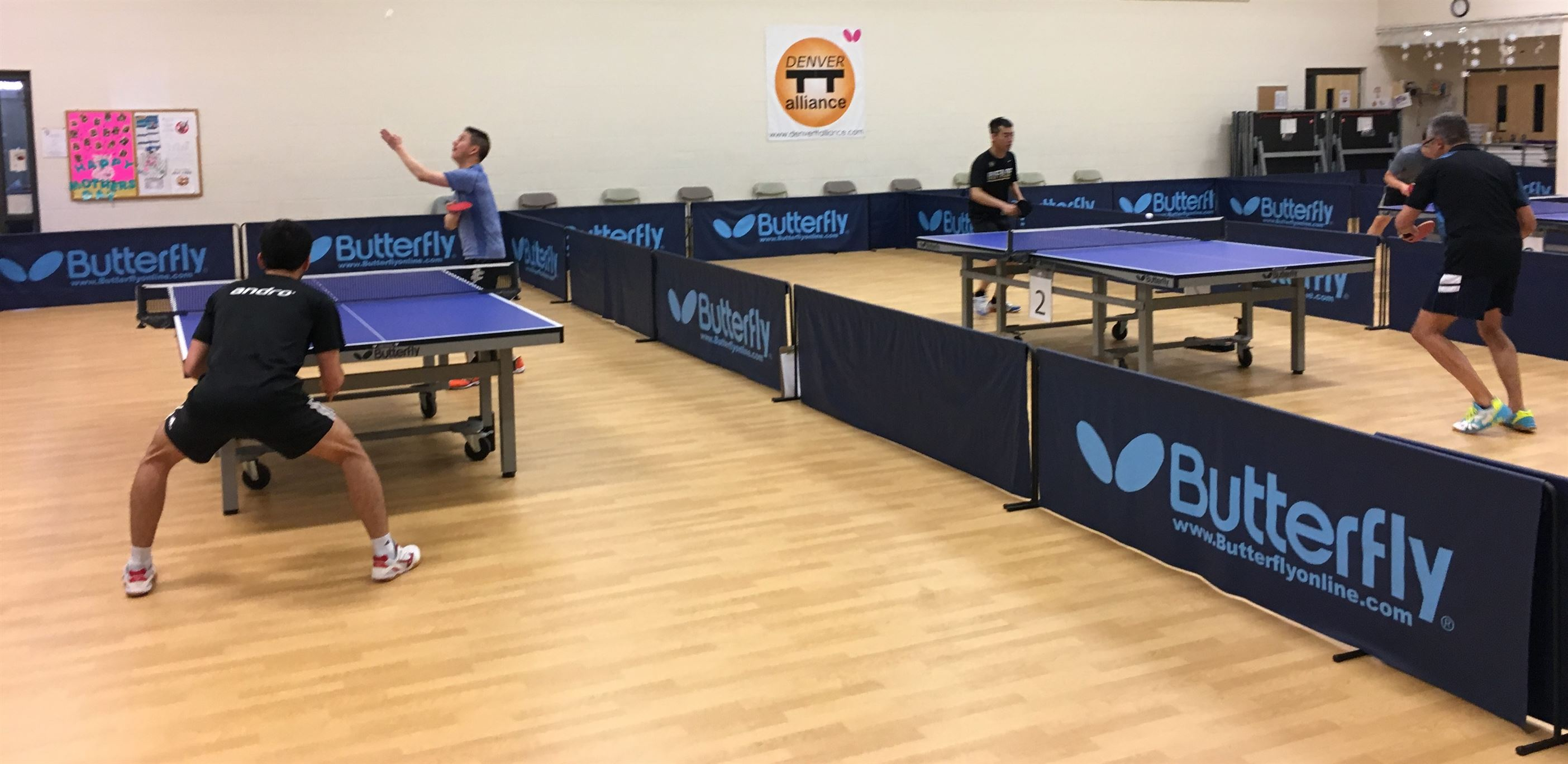 Denver Table Tennis Alliance's 4th MENSUAL Tourney