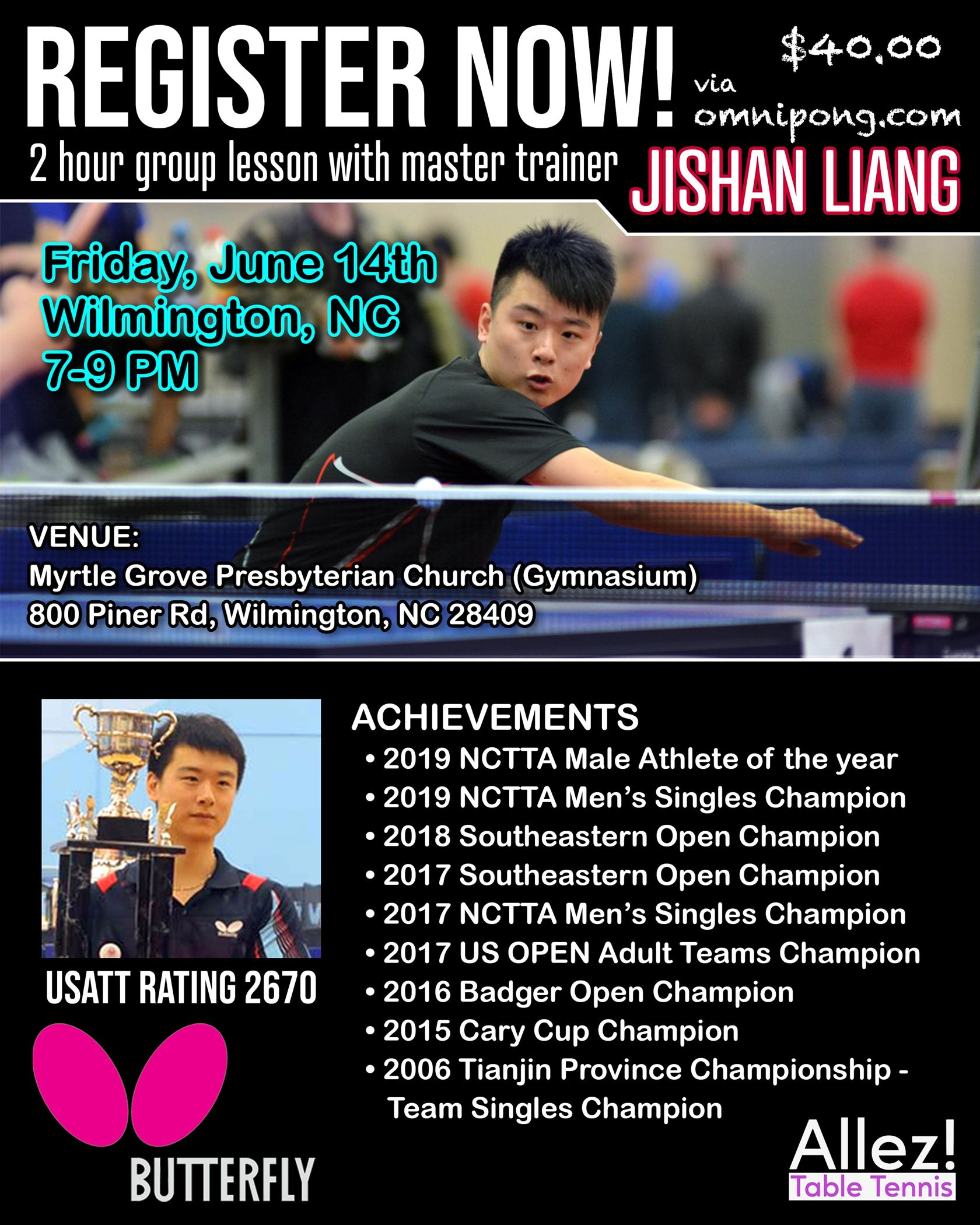 Wilmington Table Tennis Club special camp